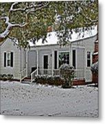 Winter Cottage Metal Print