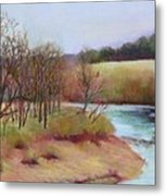 Winter Creek                  Copyrighted Metal Print