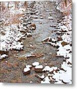 Winter Creek Scenic View Metal Print