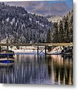 Winter Cruising On The Mish-an-nock Metal Print