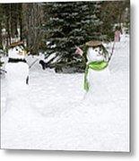 Winter Dance Of The Snow People Metal Print