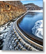 Croton Dam At Winter Metal Print
