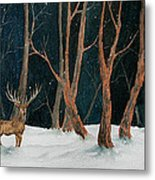Winter Deer Metal Print