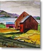 Winter Delaware Farm Metal Print