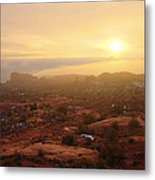 Winter Desert Glow Metal Print