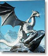 Winter Dragon Metal Print