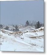 Winter Dunes Metal Print