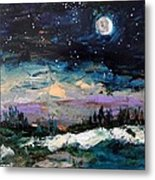 Winter Eclipse Metal Print