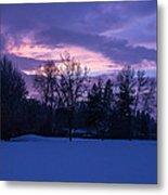 Winter Evening In Grants Pass Metal Print