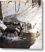 Winter Falls On Big Stone Lake  Metal Print