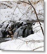 Winter Falls On Big Stone Lake Mn Metal Print