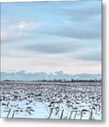 Winter Farm Field Metal Print
