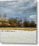 Winter Farm Metal Print by Steve McKinzie