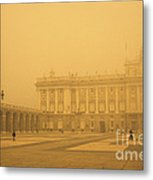 Winter Fog In Madrid Metal Print