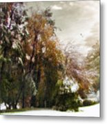 Winter Foliage Metal Print