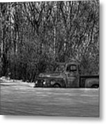 Winter Ford Truck 1 Metal Print by Thomas Young