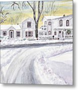 Winter Holidays In Dixboro Mi Metal Print