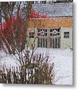 Winter House Metal Print