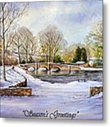 winter in ashford Derbyshire Metal Print