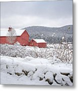 Winter In Connecticut Metal Print by Bill Wakeley