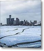 Winter In Detroit  Metal Print