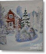 Winter In Finland Metal Print