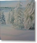 Winter In Gyllbergen Metal Print