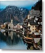 Winter In Hallstatt Metal Print