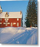 Winter In New England, Mountain View Metal Print