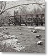 Winter In Pencil Metal Print