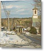 Winter In Round Pond Maine Metal Print