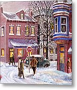 Winter In Soulard Metal Print by Edward Farber