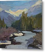Winter In The Cascade Mountains Metal Print