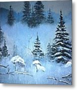 Winter In The Forest Metal Print