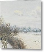 Winter In The Ouse Valley Metal Print