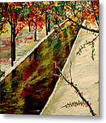 Winter In The Park  Metal Print by Mark Moore