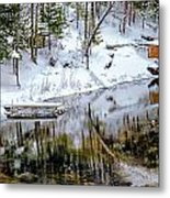 Winter In The Up Metal Print