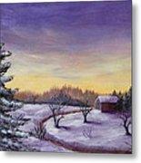 Winter In Vermont Metal Print by Anastasiya Malakhova
