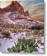 Winter In Zion National Park Utah Metal Print by Utah Images