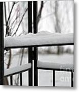 Winter Ironwork Metal Print