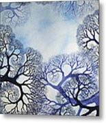 Winter Lace Metal Print by Helen Klebesadel