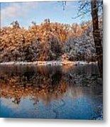Winter Lake Reflections Metal Print