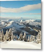 Winter Landscape In British Columbia Metal Print