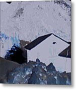 Winter Life Austrian Mountain  Metal Print