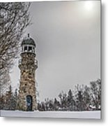 Winter Lighthouse Metal Print