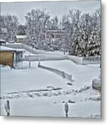 Winter Lines Metal Print
