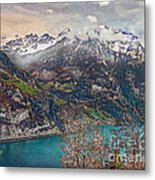 Winter Meets Spring Metal Print