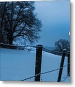 Winter Moon Metal Print