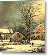 Winter Morning 1863 Metal Print