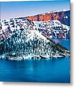 Winter Morning At Crater Lake Metal Print